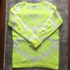 Gianni Bini neon yellow Aztec sweater medium
